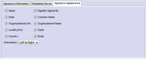 New Settings to customize signature appearance in the Sign PDF Job