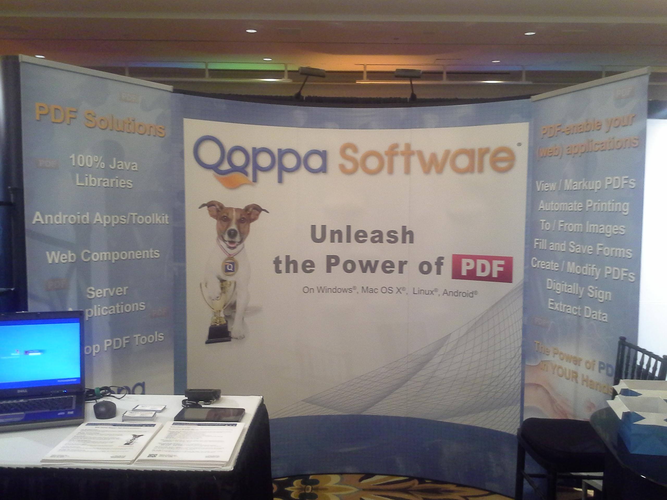 Qoppa Software Booth at JavaOne 2012