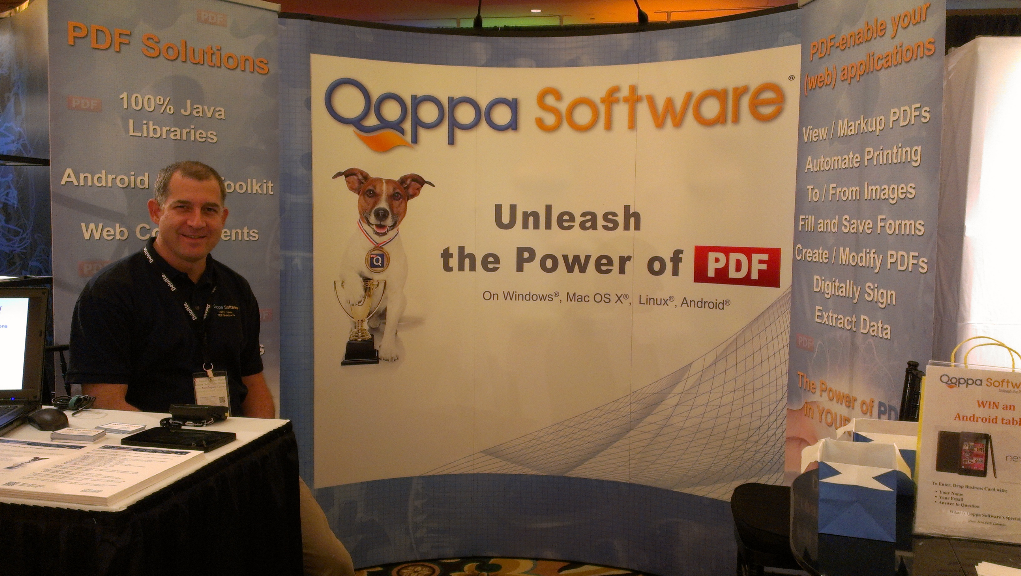 Gerald Holmann - Qoppa Software Booth at JavaOne 2012